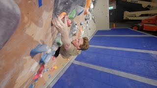 Nikken Going For The Flash On The New V9 Problem This Bouldering Session! by Eric Karlsson Bouldering