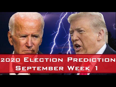 Election Corner - [September Week 1] 2020 Presidential Election Prediction [9/2/2020-9/8/2020]