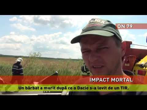Un bărbat a murit după ce o Dacie s-a lovit de un TIR
