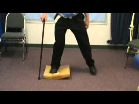 Stroke Balance Exercise using a Foam Pad at Home