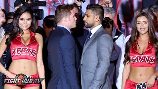 Alvarez vs.  Khan Pre-Fight Press conference & face off
