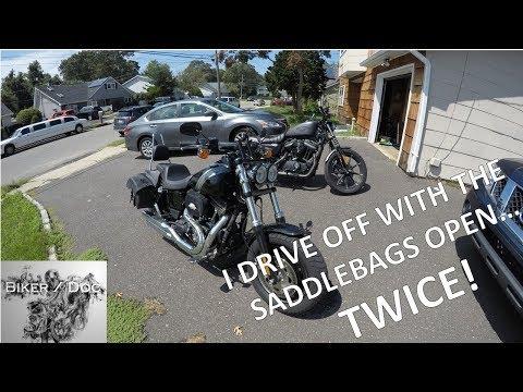 I left my saddle bags open... TWICE!! - 2017 Harley-Davidson Fat Bob
