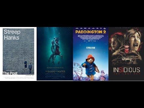 AJ's Movie Reviews: The Post, The Shape of Water, Paddington 2 & Insidious: The Last Key(1-13-18)