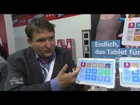 Tablet für Senioren im MDR