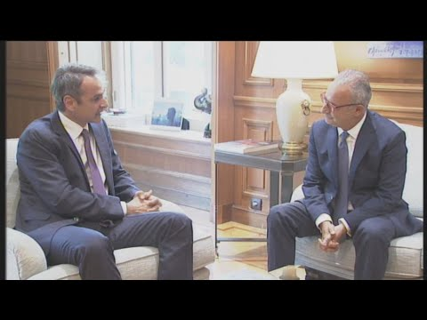 Συνάντηση του Πρωθυπουργού με τον πρόεδρο του Δημοκρατικού Συναγερμού, Αβέρωφ Νεοφύτου