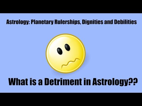 What is a  Detriment in Astrology