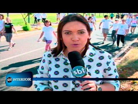 Caminhada contra câncer reúne corredores em Catanduva