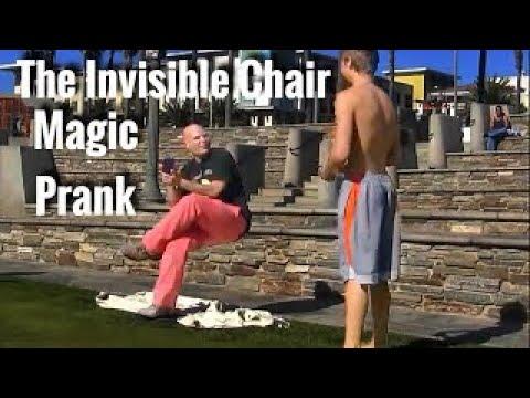 Invisible Chair Magic PRANK!