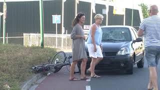 Ongeval met fietserop de  Westdijk