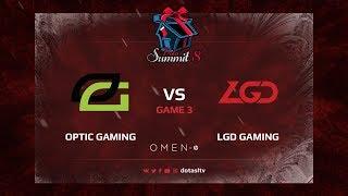 Optic Gaming против LGD Gaming, Третья карта, Групповой Этап Dota Summit 8