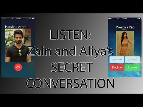 LISTEN : Zain and Aaliya's secret conversation