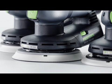 Видео Шлифмашинка эксцентриковая Festool ETS EC 150/3 EQ Plus