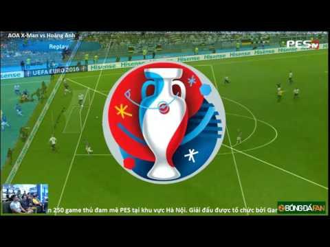 [PES 2016] [AoA] Xmen vs Hoàng Anh | BÓNG ĐÁ FAN CUP 2016 | Round 3