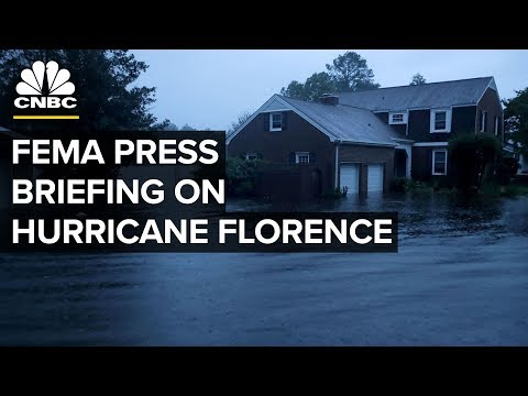 LIVE: FEMA Press Briefing on Hurricane Florence - Sept. 14, 2018