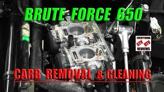 8. Brute Force 650: How to Remove Carburetor and Cleaning Main and Pilot Jets
