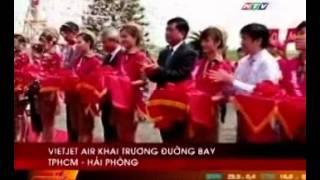 VietJetAir Khai Trương đường Bay TP.HCM - Hải Phòng, HTV7 17h45 Oct 2012.wmv