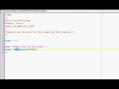 Video Learning the Basic's of PHP Programming - Tutorial 2 download in MP3, 3GP, MP4, WEBM, AVI, FLV January 2017