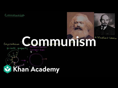 communism - Learn more: http://www.khanacademy.org/video?v=MmRgMAZyYN0 Overview of Communism and Marxist-Leninist States.