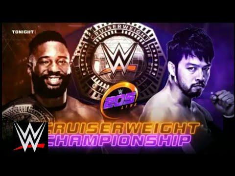 WWE Cruiserweight Champion Cedric Alexander vs. Hideo  Itomi 205 Action