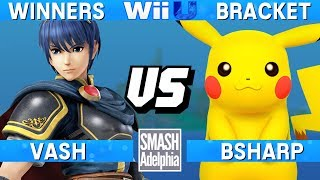 This Super Smash Bros. 4 Wii U tournament match features Vash as Marth vs bSharp as Pikachu. This Winners Bracket match at SMASHADELPHIA 2017 was livestreamed on 06/24/17.Enjoy the video? Hit the like button and drop a comment and let us know your favorite part. Share it with your friends and spread the hype!Check out our website:► http://clashtournaments.comWatch our live streams:► http://twitch.tv/clashtournaments► http://hitbox.tv/clashtournamentsFind us on social media:► http://facebook.com/clashtournaments► http://youtube.com/clashtournaments► http://twitter.com/clashtournament► http://instagram.com/clashtournamentsBe sure to Follow and Subscribe to us to keep up to date on all of our content. Click the bell next to the subscribe button to receive instant notifications on all uploads!