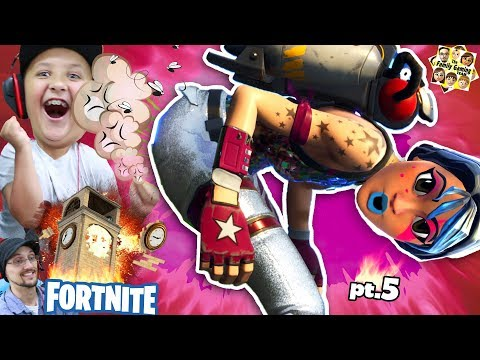 FORTNITE METEOR vs TILTED TOWERS!  EPIC MOMENTS COMPILATION w/ FGTEEV Mike (Battle Royale Comet) (видео)