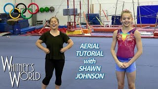 Whitney was fortunate to spend some time in the gym with Olympic gold medal winning gymnast, Shawn Johnson!  Here Shawn and Whitney demonstrate how to an aerial…while Shawn's husband, Andrew, demonstrates how not to do an aerial.Be sure to check out Shawn's videos from this day here: https://www.youtube.com/channel/UCJ15Zl-v8-ghTgEOTpxHdGwCheck out Shawn's video - Drone Gymnastics: https://www.youtube.com/watch?v=88KRtx5z2hs&t=1sCheck out Shawn's video - Gymnastics Mat Maze with Whitney Bjerken: https://www.youtube.com/watch?v=mN95_k5jz3wCheck out Shawn's video - Tutorial: Teaching Whitney Bjerken my Beam Skill: https://www.youtube.com/watch?v=ge1llGB_HmwFrom Wikipedia: Shawn Johnson EastShawn Machel Johnson (born January 19, 1992) is an American former artistic gymnast. She is the 2008 Olympic balance beam gold medalist and team, all-around and floor exercise silver medalist. Johnson is also a five-time Pan American Games gold medalist, winning the team titles in 2007 and 2011, as well as titles in the all-around, uneven bars, and balance beam in 2007.Johnson became a member of the U.S. senior team in 2007. She had one of the best rookie seasons ever recorded in the history of gymnastics, winning the all-around at the American Cup, Pan American Games, U.S. National Championships, and World Championships all in her first year as a senior gymnast. She is the 2007 individual all-around World Champion, 2007 World Champion on floor exercise, and a member of the 2007 gold medal winning U.S. gymnastics team. As well as being the 2007 U.S. Champion on balance beam and floor exercise, the 2008 U.S. Champion on floor exercise and silver medalist on balance beam, she is a three-time U.S. all-around Champion, winning once as a junior and twice as a senior.Johnson announced her retirement from gymnastics on June 3, 2012.In May 2009, Johnson was the winner of Dancing with the Stars – season eight, and in November 2012 she earned second place on the all-star edition.Check out the