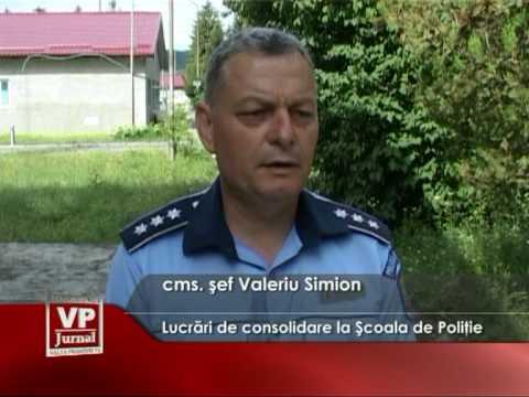 Lucrări de consolidare la Şcoala de Poliţie