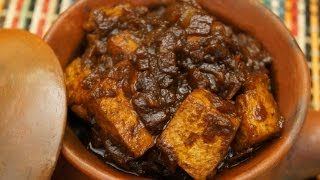 Ethiopian Food - Tofu Wot ( Wet Wat ) Recipe - Vegan Fasting Dish - Berbere Injera