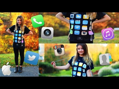 Last minute DIY iPhone costume #fallingintofall