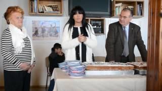 Αικ. Αδαμοπούλου, Διευθύνουσα Σύμβουλος Οργ. Λιμένος Ραφήνας, στην κοπή της πίτας του ΝΟ Αλκυών