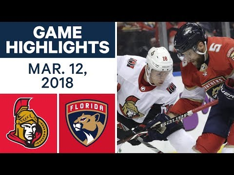 Video: NHL Game Highlights | Senators vs. Panthers- Mar. 12, 2018