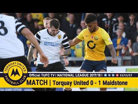 Official TUFC TV | Torquay United 0 - 1 Maidstone United 11/11/17