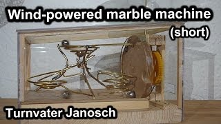 Wind-powered marble machine by Turnvater Janosch, YouTube video thumbnail