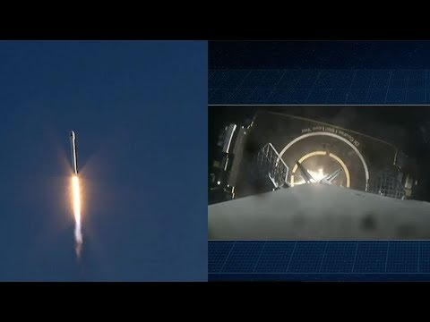 SpaceX Falcon 9 launches TESS & Falcon 9 first stage landing_Űrhajó videók