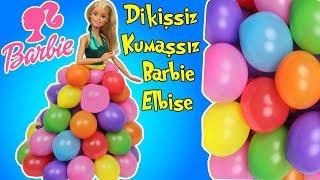 barbie bebeğime balondan elbise  dikişsiz kumaşsız kolay barbie kıyafet yapımı  bidünya oyuncak