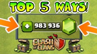 Video TOP 5 WAYS TO GET FREE GEMS IN CLASH OF CLANS LEGALLY (NO HACKS)! | 5 AWESOME STRATEGIES!! MP3, 3GP, MP4, WEBM, AVI, FLV Mei 2017
