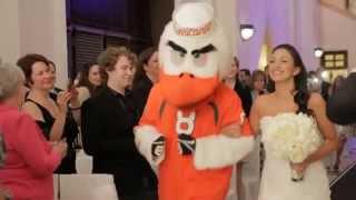 Bride Walked Down Aisle By Miami Hurricanes Mascot