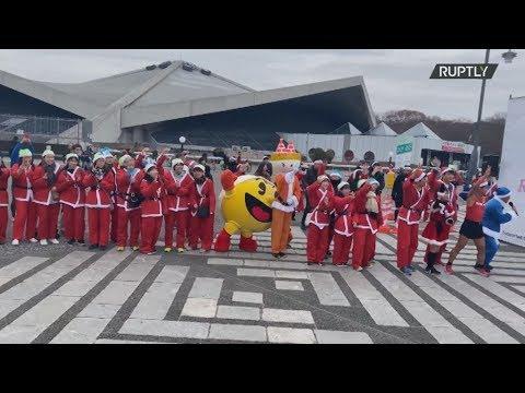 Ιαπωνία: Εκατοντάδες ντυμένοι  Άγιοi Βασίληδες τρέχουν για φιλανθρωπικό σκοπό στο Τόκιο