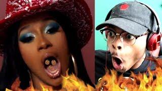 CARDI NASTY! Blueface - Thotiana Remix ft. Cardi B   Reaction