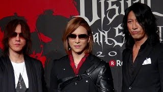 YOSHIKI(X JAPAN)、SUGIZO(LUNA SEA, X JAPAN)、TAKURO(GRAY)/「VISUAL JAPAN SUMMIT 2016 Powered by Rakuten」記者発表会