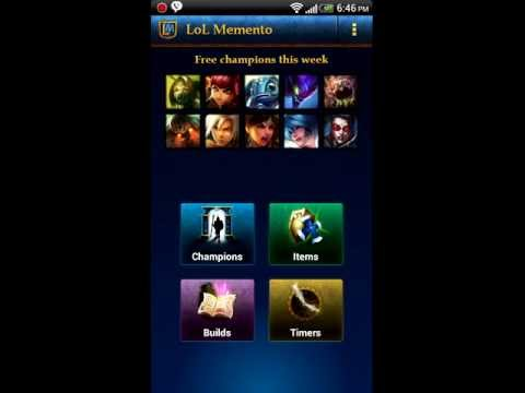 momento app review - This Is a review for the Android App LoL Memento. It is in my opinion the best league of Legends app out there that helps alot to set your champion up in the...
