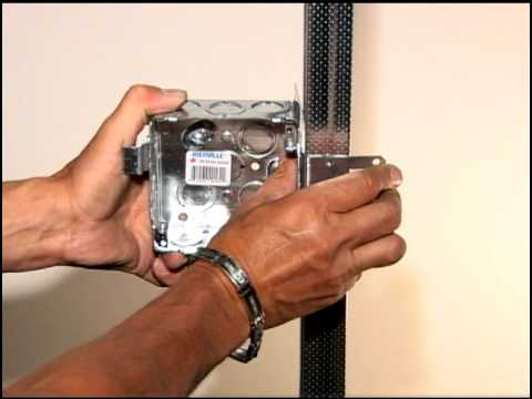 how to fasten electrical boxes to steel studs