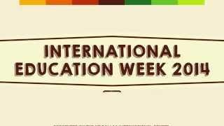 UT Dallas International Education Week 2014 Promo