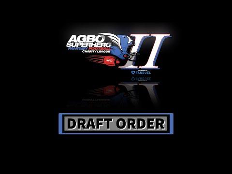 AGBO Superhero League - 2020 Fantasy Football Draft Order