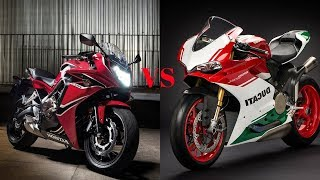 3. AMAZING!!!2018 Ducati Panigale 1299 R Final Edition VS 2018 Honda CBR650F ABS