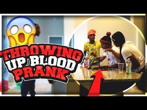 Throwing Up BLOOD PRANK!! On Perfectlaughs , Ar'mon , & Funnymike