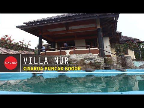 Villa Nur di Puncak Cisarua Bogor Fasilitas Kamar Tidur 3, Kolam Renang Pribadi Memiliki View Lepas