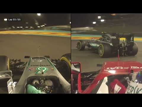 Rosberg's Intense Final Lap and Celebrations   2016 Abu Dhabi Grand Prix