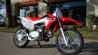 7. 2015 Honda CRF110F Red