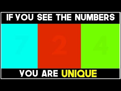 WHAT NUMBER DO YOU SEE? - 98 FAIL  Eye Test